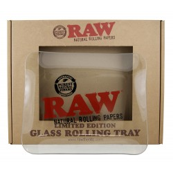 RAW GLASS ROLLING TRAY SMALL