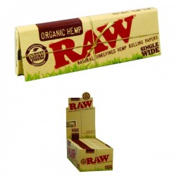 RAW SINGLE WIDE PAPERS X 50