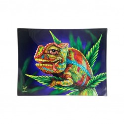 stoned chameleon glass rolling tray. American style smoking accessories available to buy in wholesale only online