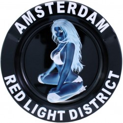 METAL TIN ASHTRAY AMSTERDAM...