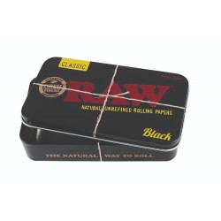 RAW METAL TIN CASE - BLACK X 6