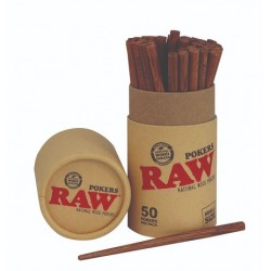 RAW WOODEN POKERS X 50